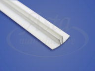 Плинтус ПВХ для клинового разделительного багета белый