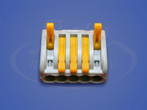 Клеммники WAGO 413/50 с нажимными рычагами, 4 провода