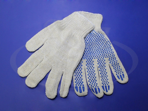 Перчатки ХБ с ПВХ напылением