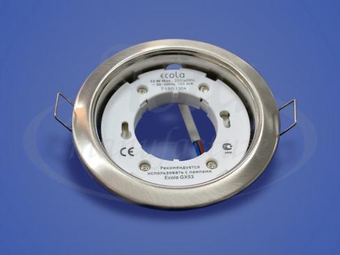 Светильник Экола GX53 сатин-хром