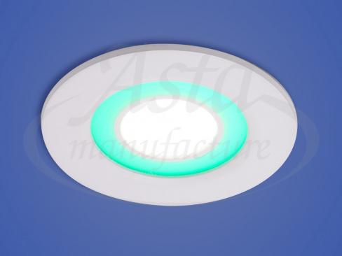 Светильник LED X-002, LY 206 G, 6+2 W, d 110*90, цвет зеленый